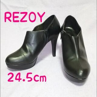 リゾイ(REZOY)のREZOY ブーティ ブーツ ハイヒール ヒール パンプス 黒 ブラック リゾイ(ハイヒール/パンプス)