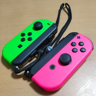ニンテンドースイッチ(Nintendo Switch)の美品!ジョイコン ピンク 緑(その他)