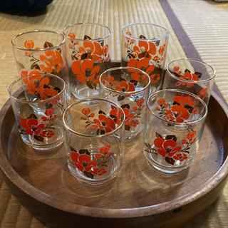 トウヨウササキガラス(東洋佐々木ガラス)のグラス 昭和レトロ セット 佐々木ガラス(グラス/カップ)