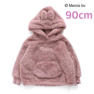 F.O.KIDS - 新品定価¥3960 miffy ミッフィー 耳付きボアパーカー 90cm ピンク