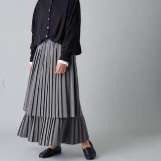 ピュアルセシン(pual ce cin)のダブルプリーツスカート(ロングスカート)