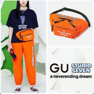 ジーユー(GU)のGU STUDIO SEVEN黒ウエストポーチ(ボディバッグ/ウエストポーチ)