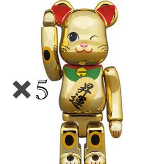 メディコムトイ(MEDICOM TOY)の5体セット BE@RBRICK 招き猫 昇運 弐 金メッキ 100%(その他)