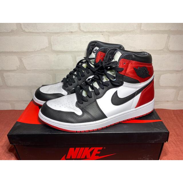 NIKE(ナイキ)のナイキ ウィメンズ エアジョーダン1 ハイ つま黒 CD0461-016(66) メンズの靴/シューズ(スニーカー)の商品写真