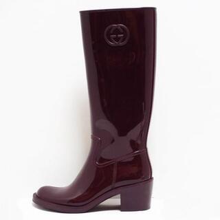グッチ(Gucci)のグッチ レインブーツ 36 レディース -(レインブーツ/長靴)
