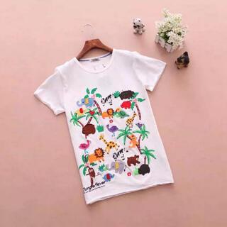 ラフ(rough)の新品,rough 刺繍たっぷりTシャツ(Tシャツ(半袖/袖なし))