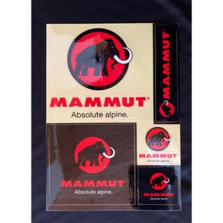Mammut - マムートステッカー 一枚 黒