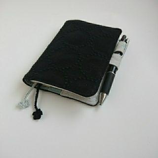 ミナペルホネン(mina perhonen)の手帳カバー  A6 dop tambourine black(その他)