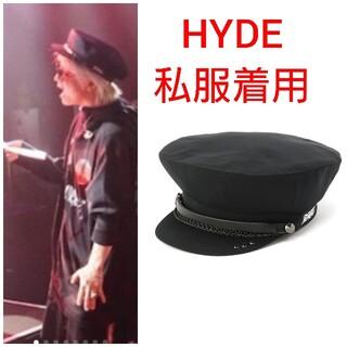 ロエン(Roen)のHYDE着用 ブラックハニーチリクッキー (ハンチング/ベレー帽)