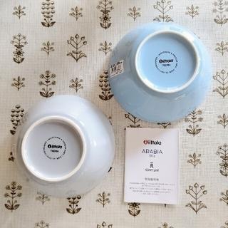 イッタラ(iittala)の新品 ライトブルー パールグレー2個 廃盤 ティーマ シリアルボウル 15cm(食器)