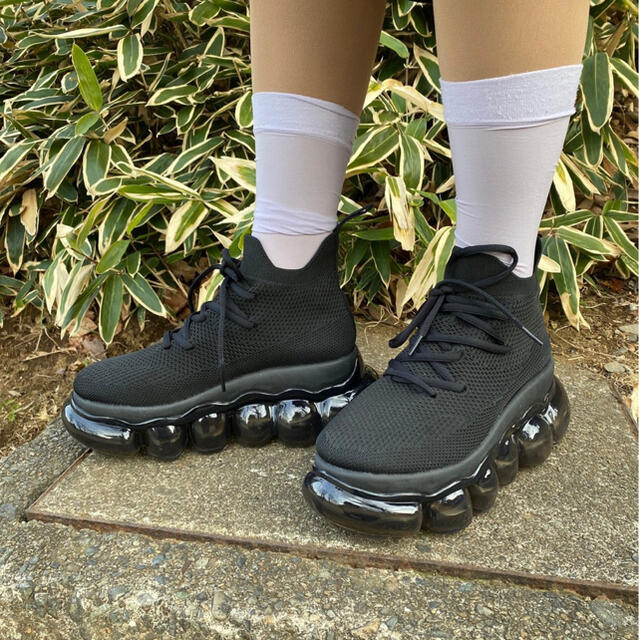 MIKIO SAKABE(ミキオサカベ)のmikio  sakabe新品jewerly high shoes black レディースの靴/シューズ(スニーカー)の商品写真