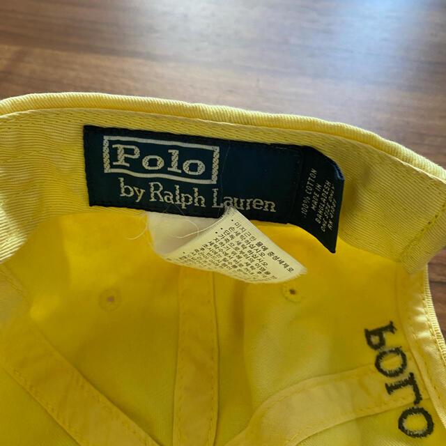 Ralph Lauren(ラルフローレン)のラルフローレン パステルイエローキャップ メンズの帽子(キャップ)の商品写真