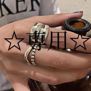 ロンハーマン(Ron Herman)の週末値下げ☆インポートジュエリー シルバーリング925  2個セット(リング(指輪))