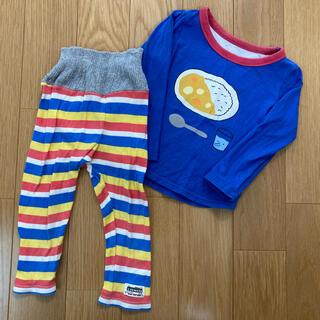 アカチャンホンポ(アカチャンホンポ)のアカチャンホンポ⭐︎カレーライス柄 パジャマ上下セット 95センチ(パジャマ)