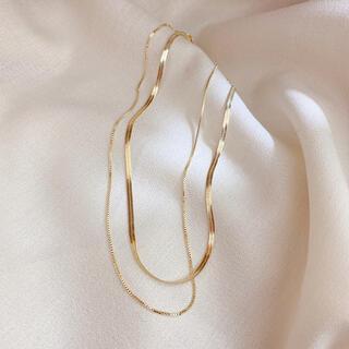 ノーブル(Noble)のゴールド 2連ネックレス 韓国(ネックレス)