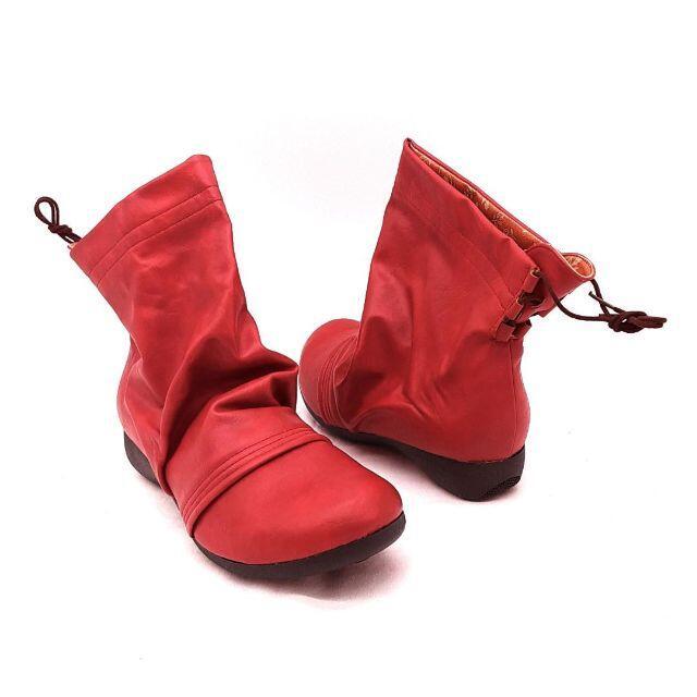 Re:getA(リゲッタ)の●新品●リゲッタ Re:getA ショートブーツ レッド ローヒール 23.0 レディースの靴/シューズ(ブーツ)の商品写真