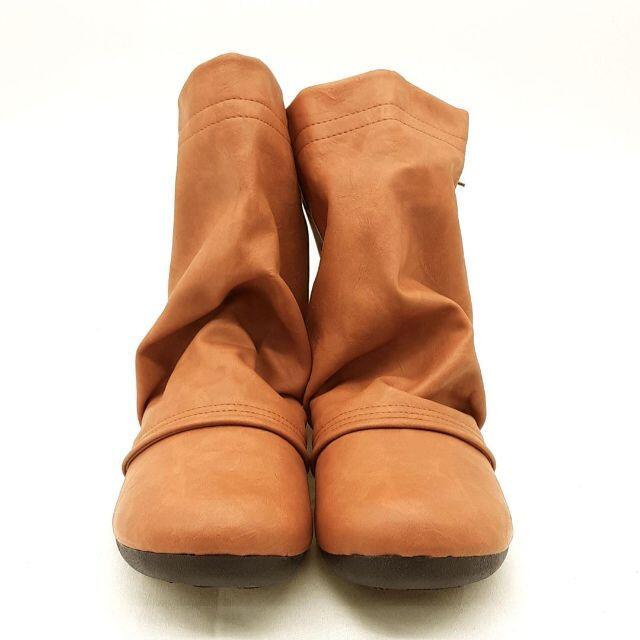 Re:getA(リゲッタ)の●新品●リゲッタ Re:getA ショートブーツ キャメル ローヒール 23.0 レディースの靴/シューズ(ブーツ)の商品写真