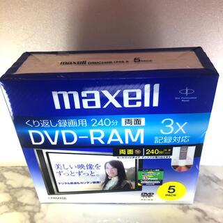 マクセル(maxell)の未使用 maxell 録画用 DVD-RAM 240分5枚 5mmケース入(その他)