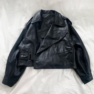 STUDIOUS - LVEU. レザージャケット ライダースジャケット ショート丈 クロップド