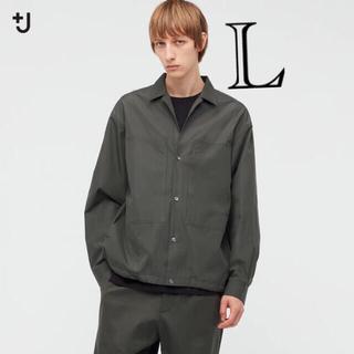 ジルサンダー(Jil Sander)のUNIQLO +J 21SS スーピマコットンオーバーサイズシャツブルゾン L(ブルゾン)