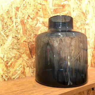 ACTUS - フラワーベース 花瓶 ネイビー 大型 北欧 リサイクルガラス