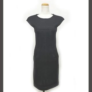 シャネル(CHANEL)のシャネル 13S ブラックメッシュ ドレス ワンピース ノースリーブ 黒 38(その他)