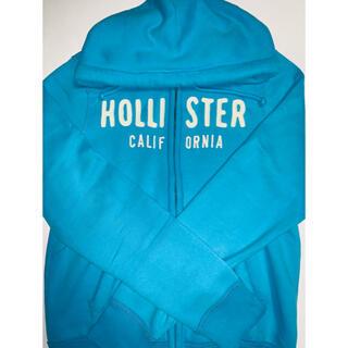 ホリスター(Hollister)のホリスター パーカー ブルー(水色)サイズM(パーカー)