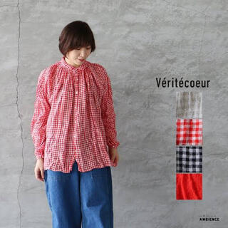 ヴェリテクール(Veritecoeur)のVeritecoeur ヴェリテクール アンティークブラウス ギンガムチェック(シャツ/ブラウス(長袖/七分))