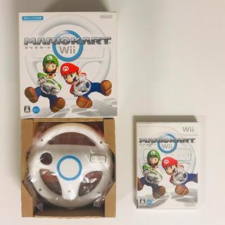 ウィー(Wii)のマリオカートWii ハンドルセット(家庭用ゲームソフト)
