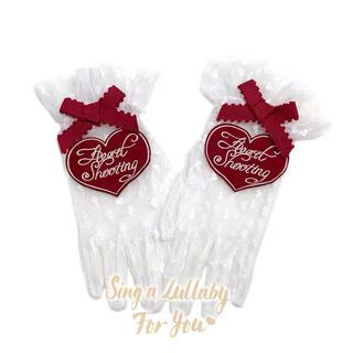 アンジェリックプリティー(Angelic Pretty)のハートレース 白赤手袋 ロリータ ゆめかわ vintage 量産系 地雷系(手袋)