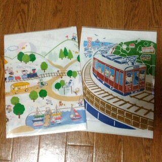 ファミリア(familiar)のファミリア 阪急電車 70周年 クリアファイル(ノート/メモ帳/ふせん)