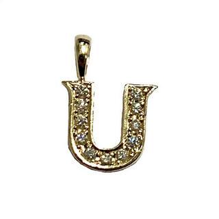 アイファニー(EYEFUNNY)のEYEFUNNY アイファニー ダイヤモンド アルファベット U  18KYG(ネックレス)