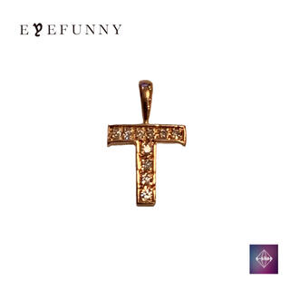 アイファニー(EYEFUNNY)のアイファニー ダイヤモンド アルファベット T 18KPG ピンクゴールド(ネックレス)