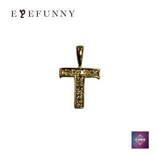 アイファニー(EYEFUNNY)のアイファニー ダイヤモンド アルファベット T 18KYG (ネックレス)
