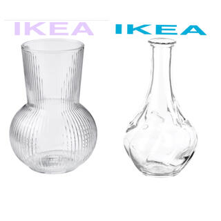 IKEA - 【二個セット!】【インスタ映えする花瓶】IKEA 大人気 シンプルフラワーベース