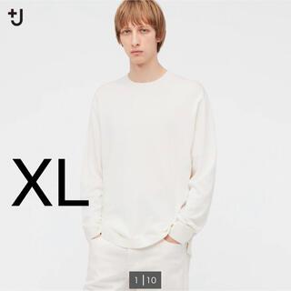 ジルサンダー(Jil Sander)のユニクロ ジルサンダー +J シルクコットンクルーネックセーター 長袖 XL(ニット/セーター)