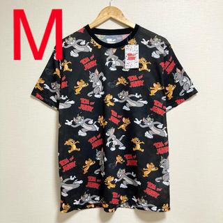 【TOM &JERRY】新品・タグ付き◎トムとジェリー総柄Tシャツ♪(Tシャツ/カットソー(半袖/袖なし))
