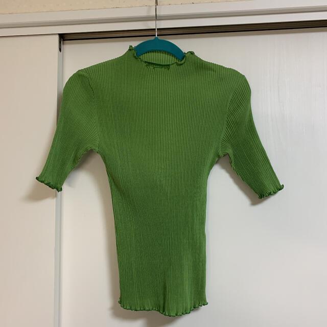 シャルレ(シャルレ)のシャルレ カットソー 黄緑 M レディースのトップス(カットソー(半袖/袖なし))の商品写真