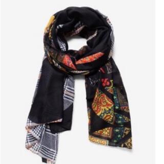 デシグアル(DESIGUAL)の新品✨タグ付き♪デシグアル 大判スカーフ ブラック (バンダナ/スカーフ)