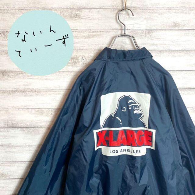 XLARGE(エクストララージ)の【入手困難】エクストララージ ゴリラロゴバックプリント ナイロンコーチジャケット メンズのジャケット/アウター(ナイロンジャケット)の商品写真