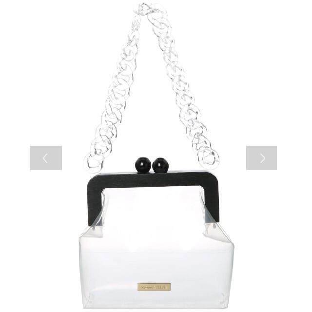 Maison de FLEUR(メゾンドフルール)のMaison de FLEUR クリアがまぐちバッグ (クリアー) レディースのバッグ(ハンドバッグ)の商品写真