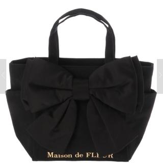 メゾンドフルール(Maison de FLEUR)のMaison de FLEUR ビッグリボンsトートバッグ  ブラック(トートバッグ)