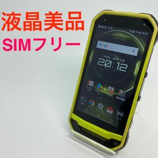 キョウセラ(京セラ)の液晶美品 京セラ TORQUE GO3 au KYV41 SIMフリー グリーン(スマートフォン本体)
