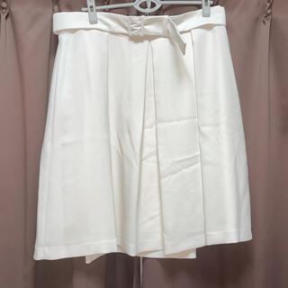 ニジュウサンク(23区)の新品 23区 スカート 50 アイボリー 日本製 大きいサイズ(ひざ丈スカート)