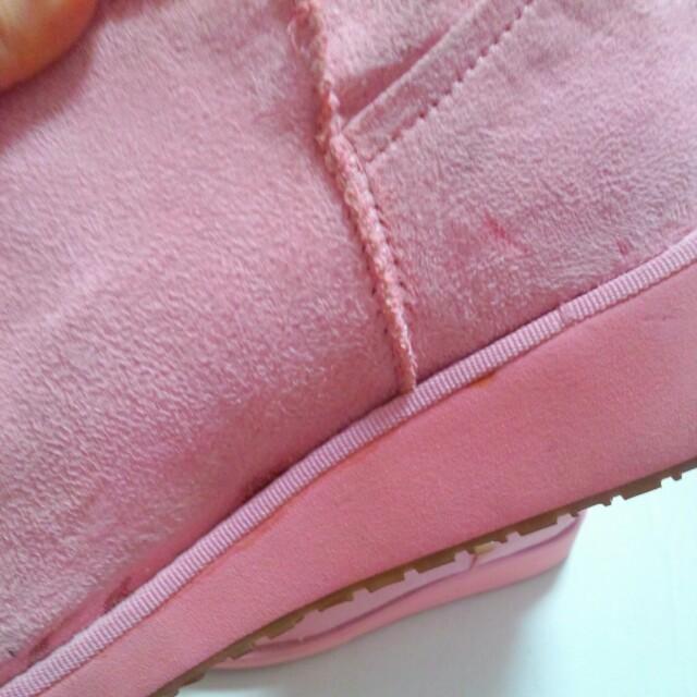 BLUE MOON BLUE(ブルームーンブルー)のピンク♡ムートン レディースの靴/シューズ(ブーツ)の商品写真