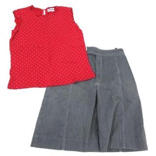 ファミリア(familiar)のファミリア 子ども服トップス スカート 2点セット  160(その他)