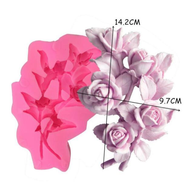 シリコンモールド⭐️バラ⭐️レジン⭐️アロマストーン⭐️花 ハンドメイドの素材/材料(各種パーツ)の商品写真