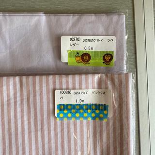 check and stripe 海のブロード オリジナルストライプ(生地/糸)