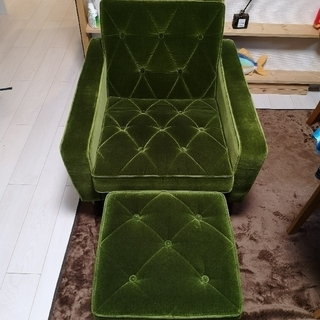 カリモクカグ(カリモク家具)のひなまつり 様専用 カリモク ロビーチェア一人掛け オットマンセット(オットマン)