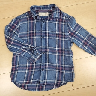 ザラキッズ(ZARA KIDS)のZARA KIDS  チェックシャツ size110 (ブラウス)